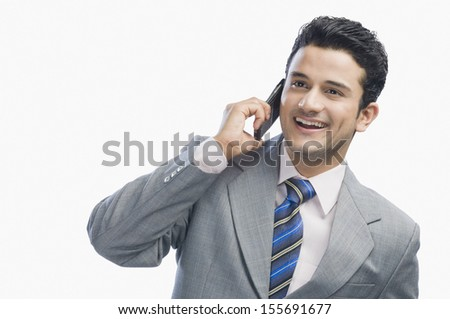 Businessman talking on a mobile phone