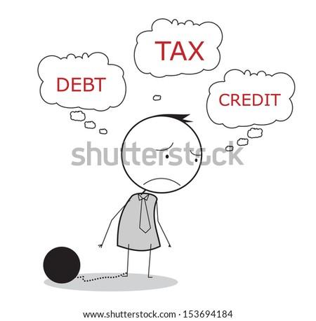 businessman tax  - stock photo
