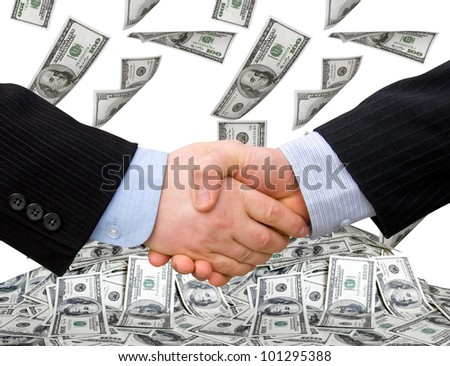 Businessman teamwork partners shaking hands. handshake