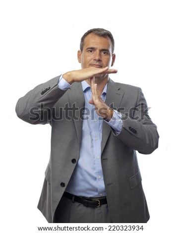 businessman time out gesture  - stock photo