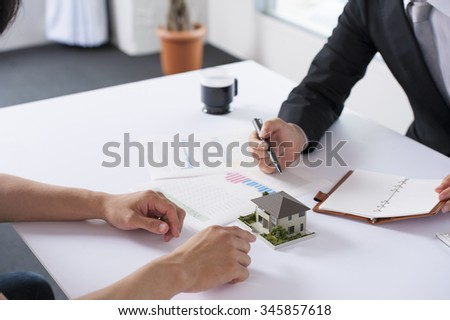Businessman to a meeting - stock photo