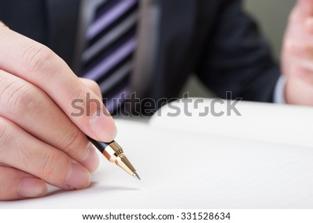 Businessman to have a pen