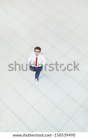businessman top view - stock photo