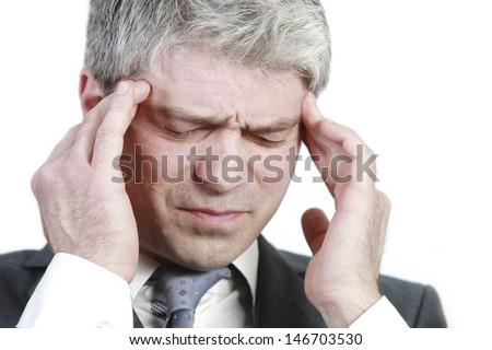 Businessman under pressure... having head ache.../Businessman under pressure - stock photo