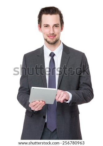 Businessman use of digital tablet