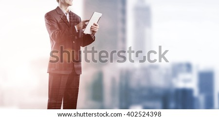 Businessman use tablet pc