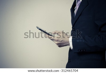 Businessman using a digital smartphone