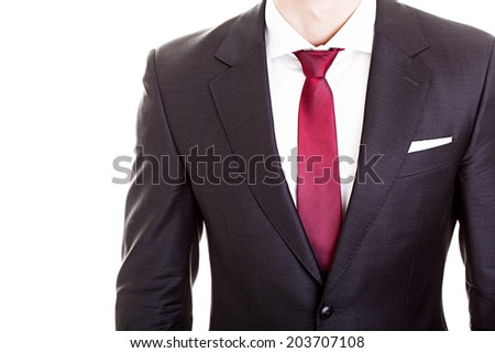 Businessman wearing formal suit and tie  - stock photo