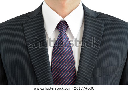 Businessman wearing suit and tie - stock photo