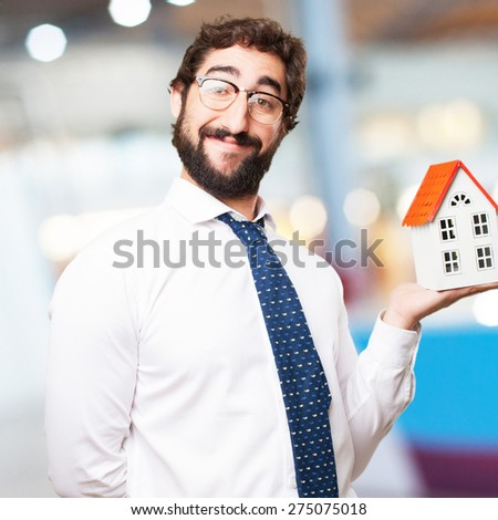 businessman with a house