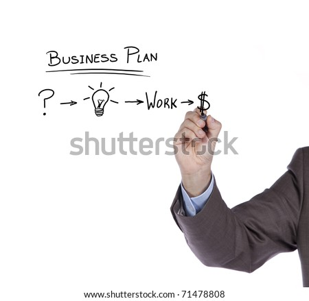 Businessman with a strategy plan to be successful in her business