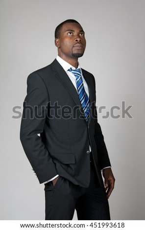 Businessman with a vision, looking into the future and thinking.