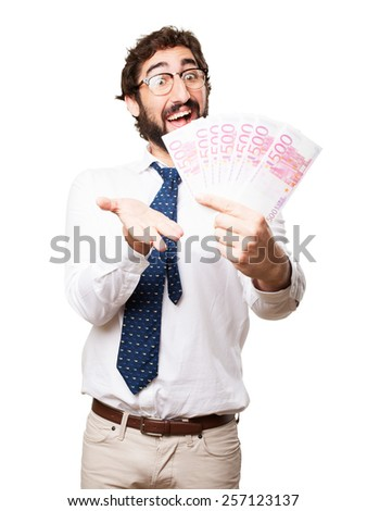 businessman with bank notes