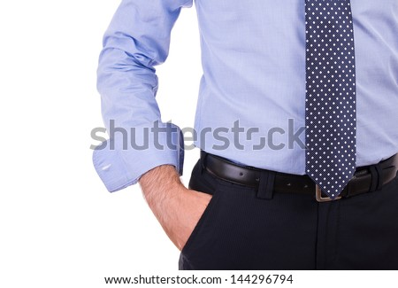 Businessman with hand in pocket. - stock photo