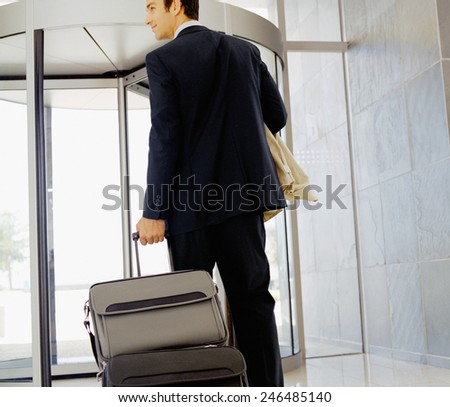 Businessman with his luggage