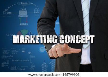 Businessman with marketing concept