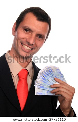 businessman with money, business financial photo - stock photo