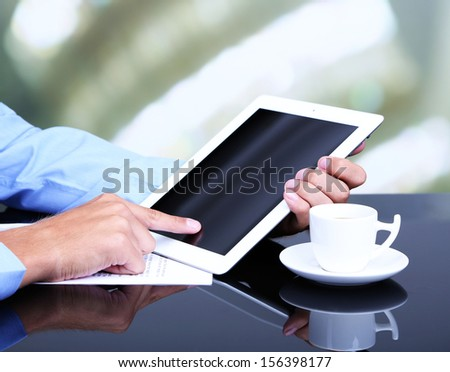 Businessman with notebook close-up