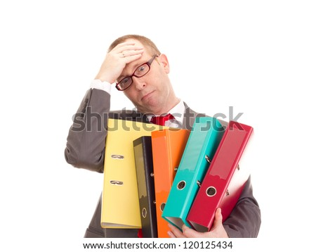 Businessman with ring binder