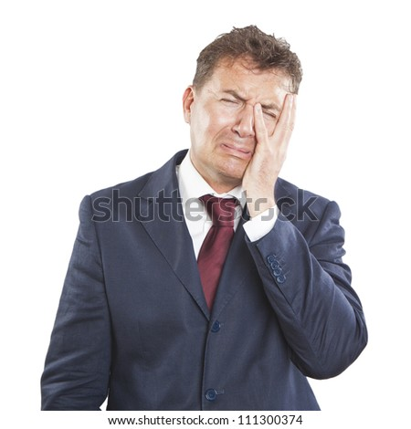 Businessman with sad expression - stock photo