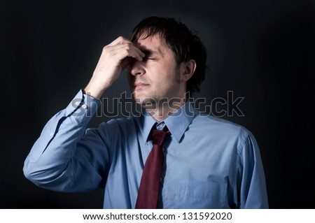 Businessman with the stress - stock photo