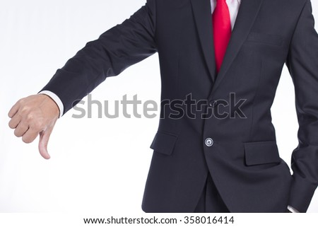 Businessman with Thumb Down
