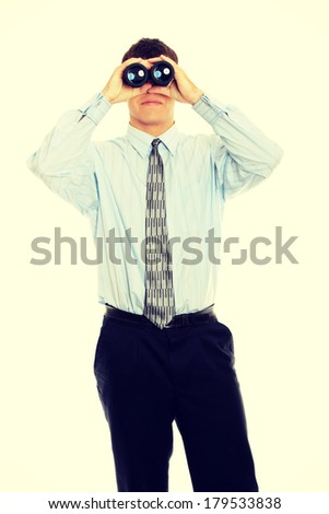 Businessman with vision - stock photo