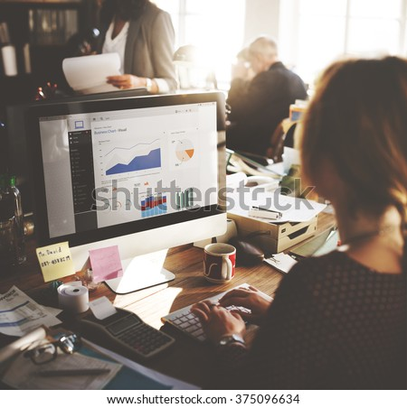 Businessman Working Dashboard Strategy Research Concept - stock photo