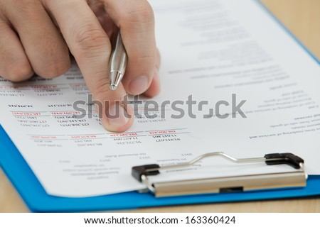Businessman working with document in the office