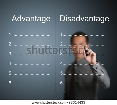 Advantages And Disadvantages Stock Images Royalty Free