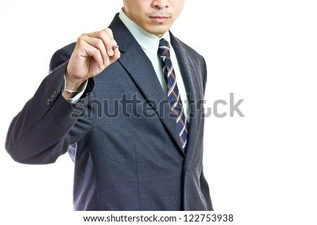 businessman writing concept - stock photo