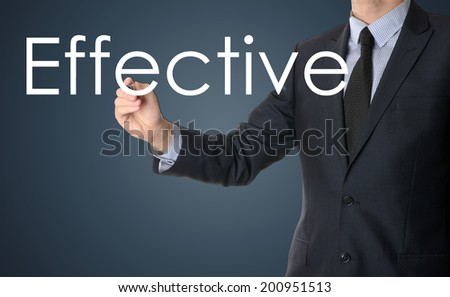 businessman writing effective