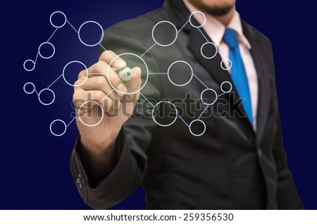 Businessman writing the business plan