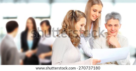 Businessmen are discussing the work plan. - stock photo