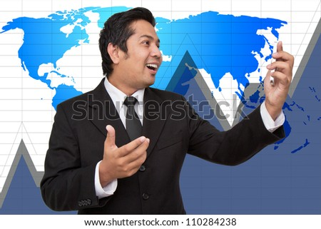 Businessmen enjoying a conversation over the cellphone - stock photo