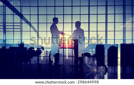 Businessmen Handshake Deal Commitment Support Concept - stock photo