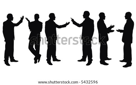 businessmen isolated on the white background