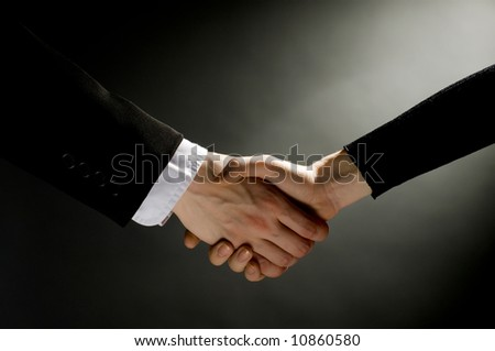 businessmen making partner handshake