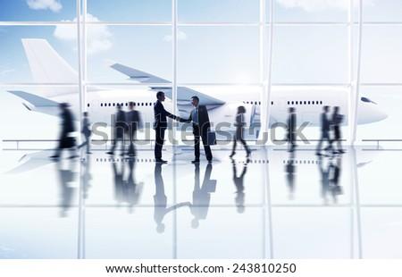 Businessmen Partnership Travel Destination Business Trip Concept - stock photo