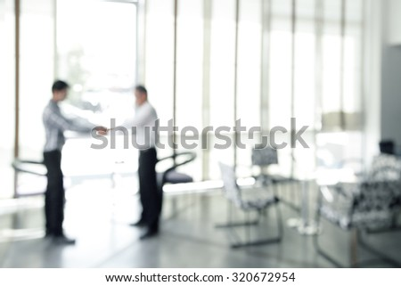 Businessmen shaking hands for MOU and sgreement successed - stock photo