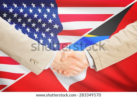 Businessmen shaking hands - United States and Antigua and Barbuda