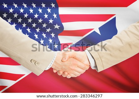 Businessmen shaking hands - United States and Chile