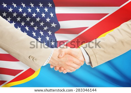 Businessmen shaking hands - United States and Congo-Kinshasa