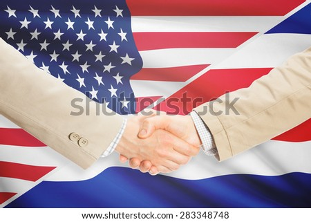 Businessmen shaking hands - United States and Costa Rica