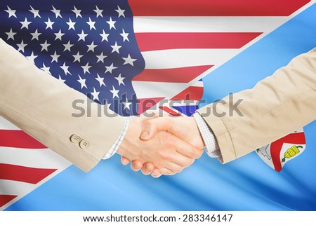 Businessmen shaking hands - United States and Fiji