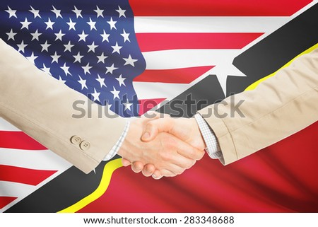 Businessmen shaking hands - United States and Saint Kitts and Nevis