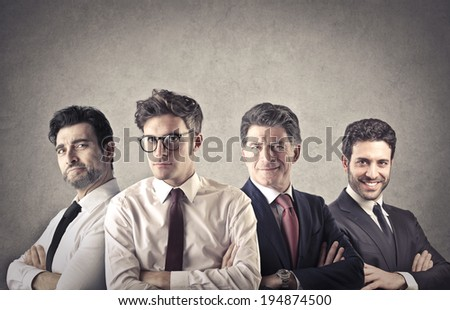 businessmen team - stock photo