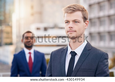 Businessmen with a vision of success - stock photo