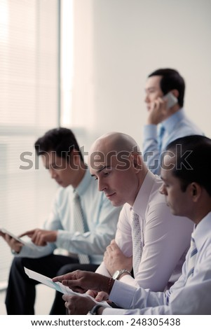 Businessmen working in the office