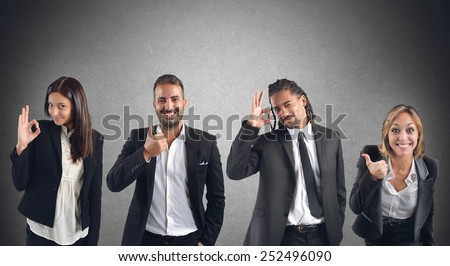 Businesspeople agree with projects that improve work - stock photo